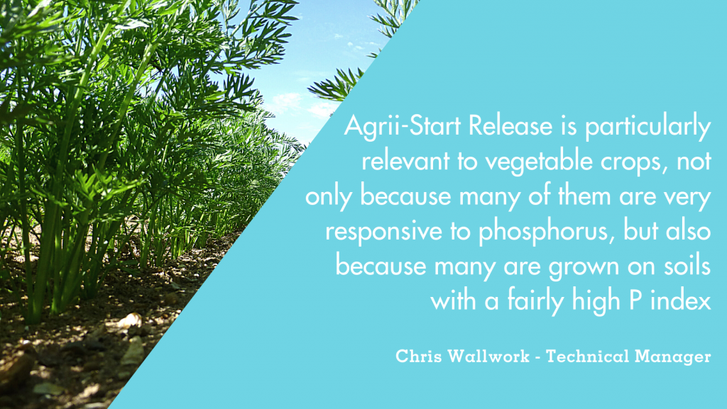 Agrii-Start Release for vegetable crop nutrition